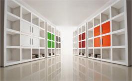 witte boekenkast op maat