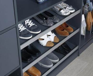 Schoenen opbergen in kledingkast