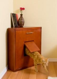 kattenbak in kast